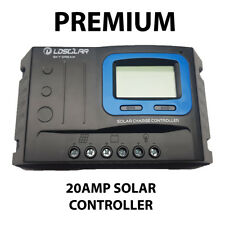 20 Amp 12V/24V PWM Solar Panel Battery Regulator Charge Controller 20A with USB