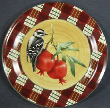 Lenox Winter Greetings Tartan Downy Woodpecker Dinner Plate Catherine McClung