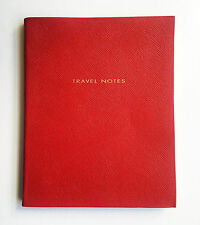 SMYTHSON Travel Notes lined notebook red leather 26cm x 21cm ruled pages
