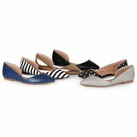 Journee Collection Womens Standard Wide-Width D'Orsay Cut-out Pointed Flats New