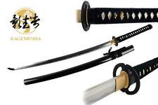 Kagemusha Japanese Handmade Katana Sword 1060 Carbon Steel Musashi Tsuba w/ Cert