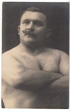 Stollberg i. Sa. Ringer Arthlet Kraftmensch male nude in Circus  c.1915 Gay Int