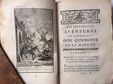 1774 Don Quichotte CERVANTES Bleuet 2 Vols. 1st edition Engravings Coypel Romain
