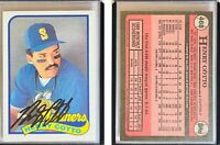 Henry Cotto Signed 1989 Topps #468 Card Seattle Mariners Auto Autograph