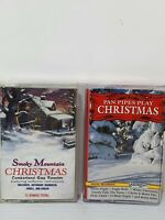 Vintage Retro Christmas Instrumental Music Cassettes Tapes Bundle x 2 Pan Pipes