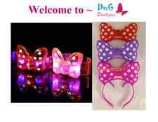 12 pc SET Light Up Polka Bow Headbands & Bracelets Goody Bags Favor Party pinata