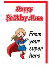 Cartolina di Compleanno per la mamma-Supereroe-a tema dai tuoi SUPER EROE