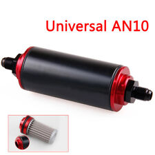 Universal 100 Micron AN10 Aluminum High Flow Fuel Inline Petrol Filter Car Clean