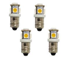 4x LED Leuchtmittel E10 warmweiß 6V DC 5 5050 SMD Lampe Glühbirne Deutsche Post