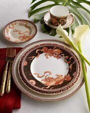 WEDGWOOD BONE CHINA DYNASTY DRAGON 5 PIECE SETTING DINNERWARE PLATES CUP 1