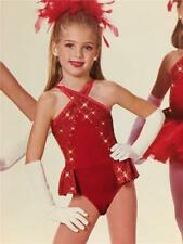 Dance Costume Jazz Tap Skate  Art Stone Child Size Red Gift Wrapped