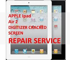 APPLE iPAD AIR 2 DIGITIZER CRACKED BROKEN SCREEN MAIL-IN REPAIR SERVICE