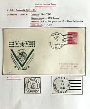 USA1946-70 NAVY SUBMARINE & SUBTENDER POSTMARKS ON SPECIAL CACHED COVERS(8ITEMS)