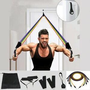 Workout Resistance Bands sets Gym Equipment 11 Pcs pull Elastic band for Fitness