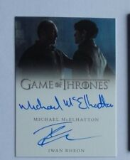 Game of Thrones Valyrian Steel dual autograph card of Rheon and McElhatton
