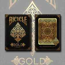 INVISIBLE GOLD BICYCLE DECK OF PLAYING CARDS POKER SIZE USPCC - MAGIC TRICKS