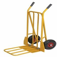 More details for yellow sack truck with folding footplate - sby24698