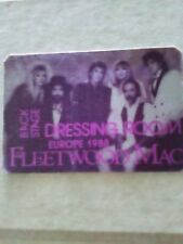 Fleetwood Mac Dressing Room Back Stage Pass Europe 1988