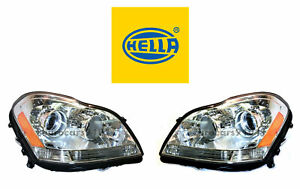 New! Mercedes-Benz Pair Set of Left and Right Xenon Headlights Hella