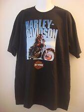 "Harley Davidson Men's Black T-Shirt ""Open Road"" London Ky, Wildcat, Size 2XL New"