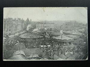 Nottingham GOOSE FAIR in Original Location OLD MARKET SQUARE c1905 Postcard