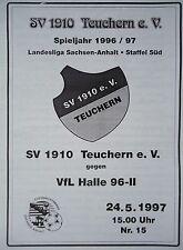 Programm 1996/97 SV 1910 Teuchern - VfL Halle 96 II