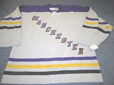 VINTAGE TEAM ISSUED REEBOK AHL MANCHESTER MONARCHS  AUTHENTIC JERSEY SIZE 58