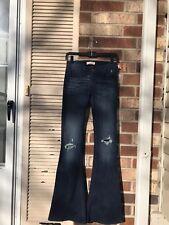 HOLLISTER Flare Destroyed Blue Jeans Stretch Size 00R