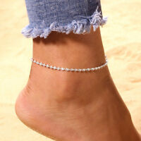 UK_ Women Boho Ankle Chain Foot Bracelet Anklet Barefoot Sandal Beach Jewelry Wi