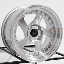 15x8 Vors VR2 4x100 20 Silver Wheels Rims Set(4)