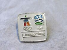 TECK COMINCO  Vancouver 2010  Olympic Games PIN Inukshuk  Rings  (Badge) EUC