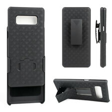 Cell Phone Case For Samsung Galaxy Note 8 With Belt Clip Kickstand Black Cover