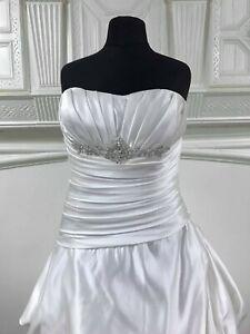 Callista 9145 size 20.  Soft satin lace up back ruched elegant wedding dress