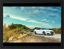 AUDI A7 360 FORGED WHEELS NEW A3 FRAMED PHOTOGRAPHIC PRINT POSTER