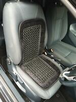 Black Car Comfort Front Beaded Seat Support For Mini Cab Driver Long Distance