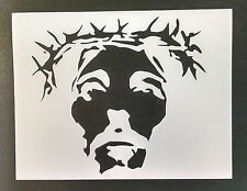 "Jesus Christ Crown of Thorns 11"" x 8.5"" Custom Stencil Fast Free Shipping"