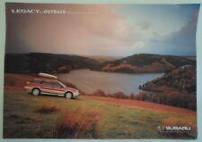 SUBARU LEGACY & OUTBACK RANGE orig 1999 UK Mkt Accessories Price List Brochure
