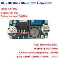 DC-DC Step Down Converter 4.5v-60v to 3v-40v Adjustable Buck Power Supply Module