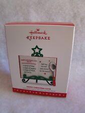 New HALLMARK Recipe Happy Christmas Stand Cook Book Spoon 3 1/2 inches Ornament