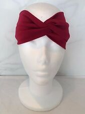 VINTAGE 1950s COSTUME RETRO RED WRAP TWIST HEADBAND HEAD SCARF HAIR TIE YOGA UK