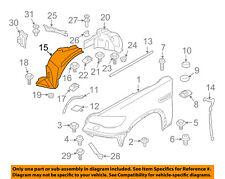 BMW OEM 10-14 X6-Front Fender Liner Splash Shield Left 51717180619