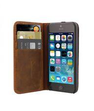 Etui folio pour iPhone 5/5S. Cuir véritable  avec Porte cartes