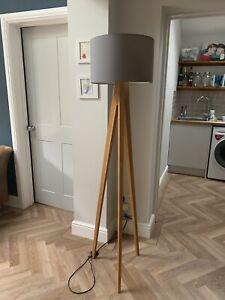 Habitat Wooden (Ash) Tripod Floor Lamp