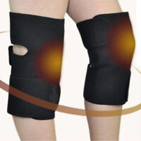 New 2Pcs Spontaneous Useful Heating Therapy Knee Brace Support Protection Belt
