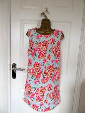 "FABULOUS FLORAL TUNIC DRESS BY NEW LOOK UK-16 BUST 42"" HIPS 44"" LENGTH 34"""