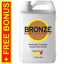 BRONZE - VERY DARK 1 GALLON Spray Tan Solution. Sunless Tanning Self Tanner Mist