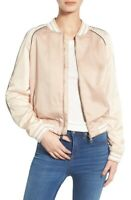 Steve Madden 164212 Women's Satin Bomber Champagne Jacket Size Large