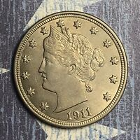 1911 LIBERTY V NICKEL. COLLECTOR COIN FOR YOUR COLLECTION. FREE SHIPPING