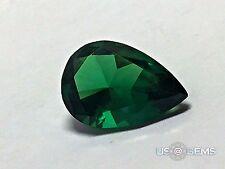 Emerald Dark #M0/2. Pear 10x7 mm. 2,6 Ct. Monosital Created Gemstone. US@GEMS