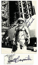 Striking Signed Photo, Scott Carpenter in His Spacesuit